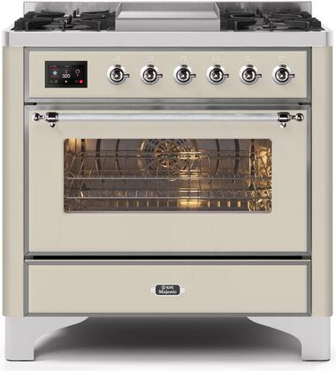UM09FDNS3AWC 36″ Majestic II Series Dual Fuel Natural Gas Range with 6 Burners and Griddle  3.5 cu. ft. Oven Capacity  TFT Oven Control Display