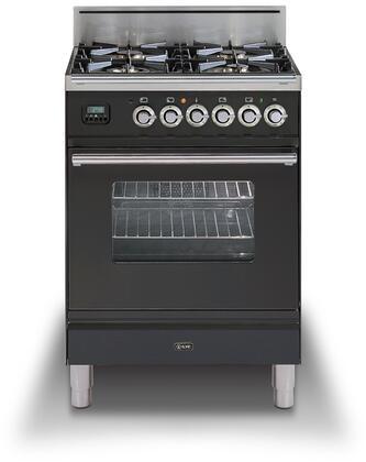 Ilve Professional Plus UPW60DVGGMXLP Freestanding Gas Range Slate, UPW60DVGGMX Professional Pro Range