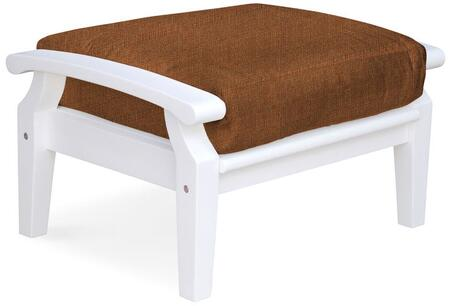 Douglas Nance Cayman White DN2204WCHILI Patio Ottoman White, DN2204WCHILI Main Image