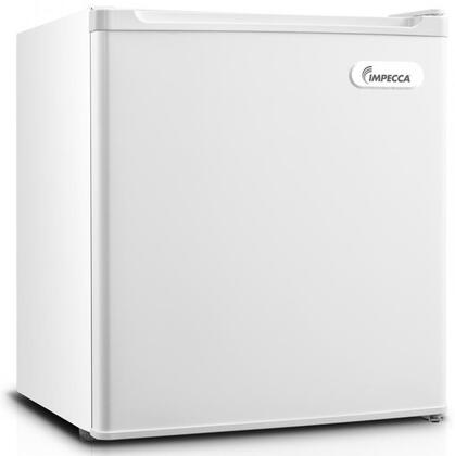 """RC-1176W 18"""" Energy Star Rated Compact Refrigerator with 1.7 cu. ft. Total Capacity 1 Wire Shelf Half Width Chiller Compartment and Reversible Door"""