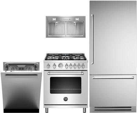 Bertazzoni  1000164 Kitchen Appliance Package Stainless Steel, main image