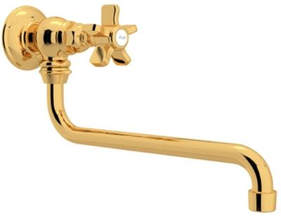 Rohl Italian Country Kitchen A1445XIB2 Faucet Yellow, Inca Brass
