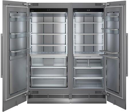 66″ Column Refrigerator & Freezer Set with MRB3000 30″ Right Hinge Refrigerator and MF3651 36″ Left Hinge Freezer in Panel