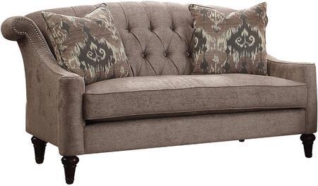 Acme Furniture Colten 52866 Loveseat Beige, 1