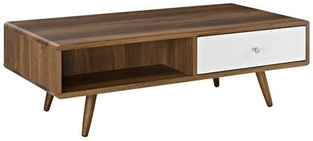 Modway Transmit EEI2528WALWHI Coffee and Cocktail Table Brown, 1