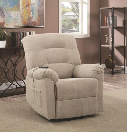 Coaster Recliners 600399 Recliner Chair Beige, 1