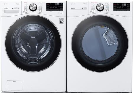 LG  1289222 Washer & Dryer Set White, 1