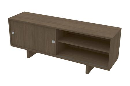 Ideaz International 20620WT 52 in. and Up TV Stand Brown, Main Image
