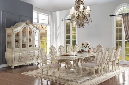 Acme Furniture Ragenardus 6128012SET Dining Room Set White, 12 PC Set