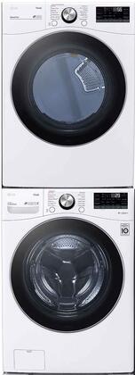 LG  1289225 Washer & Dryer Set White, 1