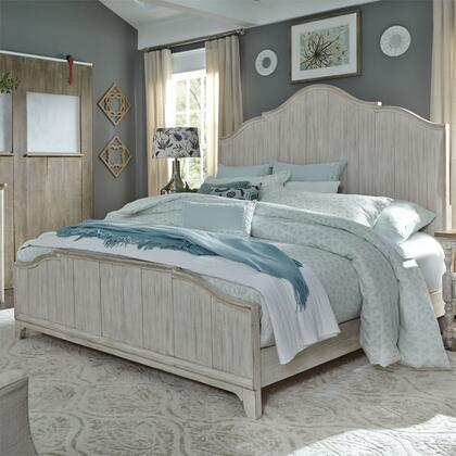 Liberty Furniture Farmhouse Reimagined 652BRQPB Bed White, 652 br qpb