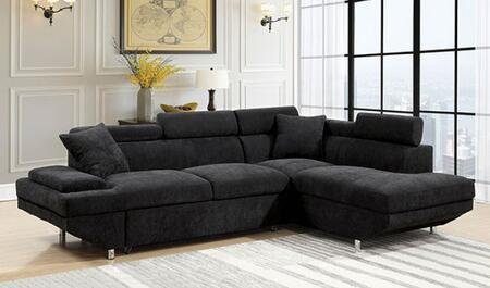 Furniture of America Foreman CM6124BKSECT Sofa Bed Black, Main Image
