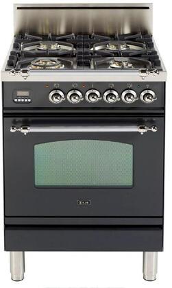 Ilve Nostalgie UPN60VGGMXLP Freestanding Gas Range, UPN60VGGMX Nostalgie Gas Range
