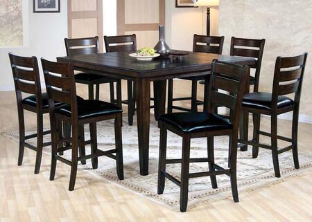 Acme Furniture Urbana 74630T8C Bar Table Set Brown, 9 PC Set