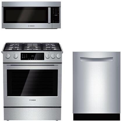 bosch benchmark 3-piece kitchen appliance package with