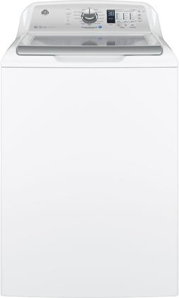 GE GTW685BSLWS Washer with Stainless Steel Basket, 4.5 Cu. Ft. Capacity, 14 Cycles, White,