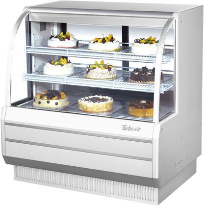 Turbo Air TCGB48WN Display and Merchandising Refrigerator White, TCGB48WN Angled View