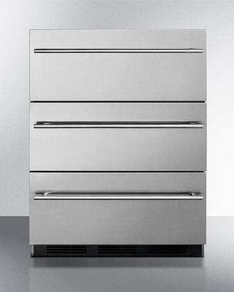 Summit  SP6DBSSTB7THIN Drawer Refrigerator Stainless Steel, SP6DBSSTB7Thin 3 Drawer Refrigerator