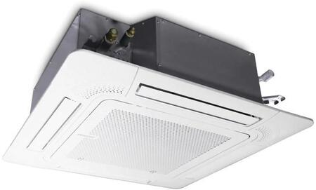 FPHFC12A3B Floating Air Pro Series Ceiling Cassette Heat Pump with 12000 BTU Cooling Capacity  13500 BTU Heating Capacity  Wi-Fi  Energy Star