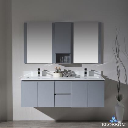 Blossom Monaco 0006015D24WH Sink Vanity Gray, 0006015D24WH 1