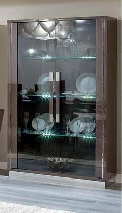 ESF Platinum I17705 China Cabinet Brown, PLATINUM2DOORCHINA