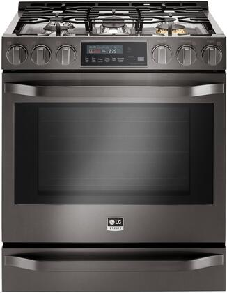 LG Studio LSSG3020BD Slide-In Gas Range Black Stainless Steel, 1