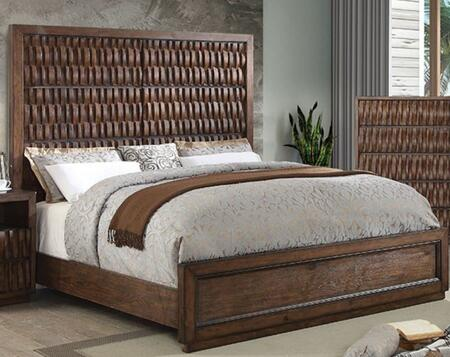Furniture of America Eutropia CM7394QBED Bed Brown, Main View