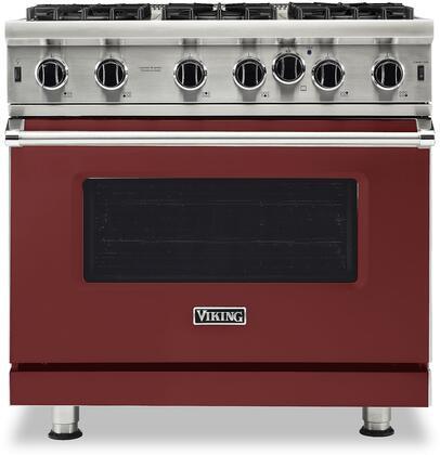 Viking 5 Series VGIC53626BRE Freestanding Gas Range Red, VGIC53626BRE Gas Range