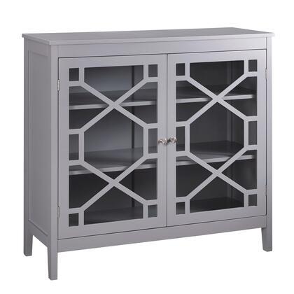 Linon Fetti 650210GRY01U Cabinet, 650210GRY01U Fetti Gray Large Cabinet