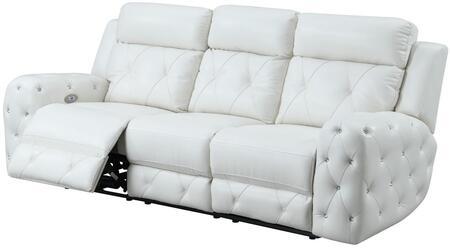 Blanche White Prs Reclining Sofa