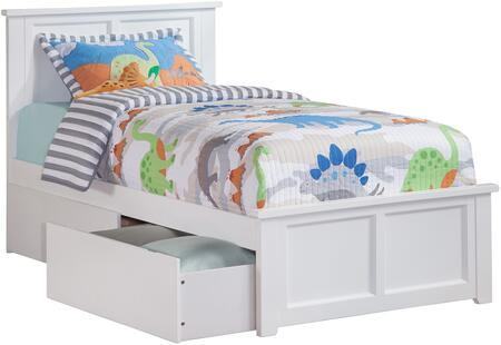 Atlantic Furniture Madison AR8616112 Bed White, AR8616112 SILO BD2 30