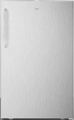 CM411L7CSS 20″ Commercially Listed Compact Refrigerator with 4.1 cu. ft. Capacity  Manual Defrost  Adjustable Shelves and Interior Light in Stainless