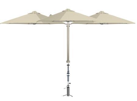 Shadowspec SU6 Series KITP6SQ30TRIOGAWHTA Outdoor Umbrella White, White Sand