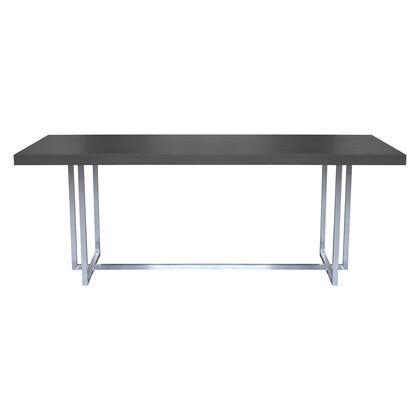 Armen Living Opal LCOPDIGR Dining Room Table Gray, LCOPDIGR