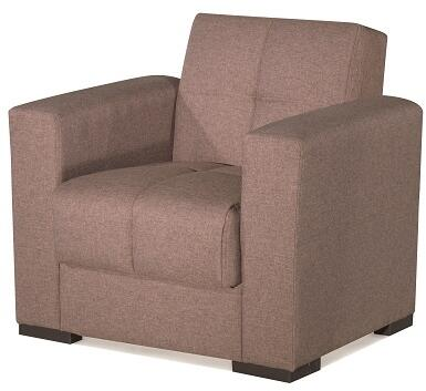 Casamode Mystic MYSTICARMCHAIRBROWN20441 Living Room Chair Brown, Main Image