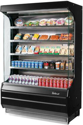 Turbo Air TOM50BN Display and Merchandising Refrigerator Black, TOM50BN Angled View