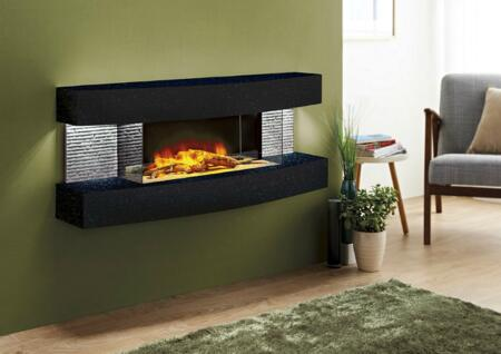 Evolution Fires Miami Curve EFMCB Fireplace Black, EFMCB side