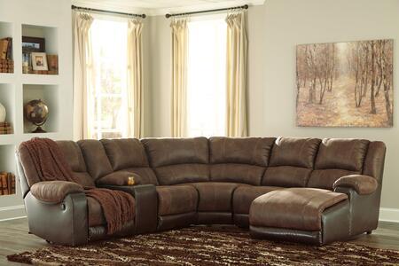 Signature Design by Ashley Nantahala 50302405719774617 Sectional Sofa Brown, Main Image