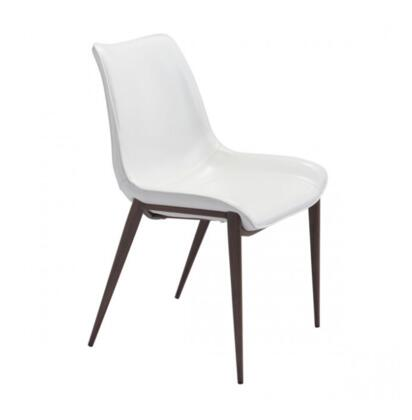 Zuo Magnus 101273 Dining Room Chair White, 101273 Front