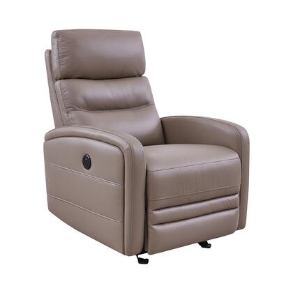 Tristan Collection LCTR1GR Power Recliner Chair with 2.2 High Density Foam Cushion  USB Charging Port  Contemporary Style  Solid Hardwood Frame and