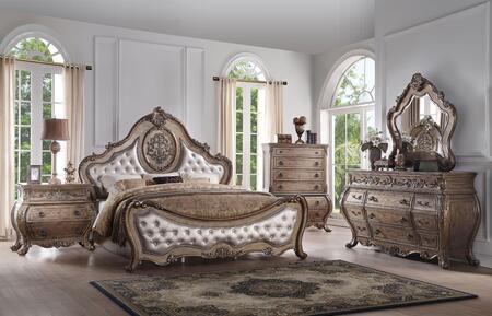 Acme Furniture Ragenardus 26307EKSET Bedroom Set Brown, Bedroom Set