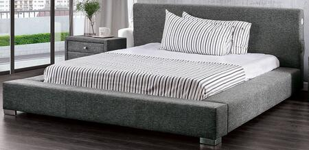 Furniture of America Canaves CM7142XGBED Bed Gray, 1