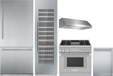 Thermador Freedom 1311395 Kitchen Appliance Package Stainless Steel, Main image