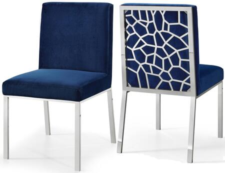 Meridian Opal 736NavyC Dining Room Chair Blue, Main Image