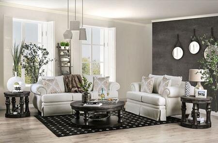 Furniture of America Bergen SM6428SFSET Living Room Set White, Living Room Set