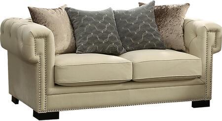 Acme Furniture Eulalia 54246 Loveseat Beige, 1