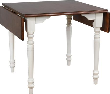 Sunset Trading Andrews DLUADW3448AW Dining Room Table White, DLUADW3448AW Main View