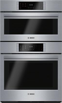 Bosch Benchmark HSLP751UC Benchmark Series 30 Inch Stainless steel 6 cu.  ft. Total Capacity Electric Double Wall Steam Oven | Appliances ConnectionAppliances Connection