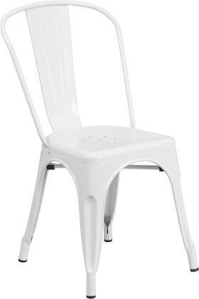 Flash Furniture CH31230 CH31230WHGG Patio Chair White, 1