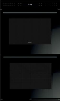 Wolf E Series DO30CEBTH Double Wall Oven Black, Main Image